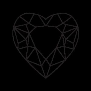 RUBY - Heart Shape